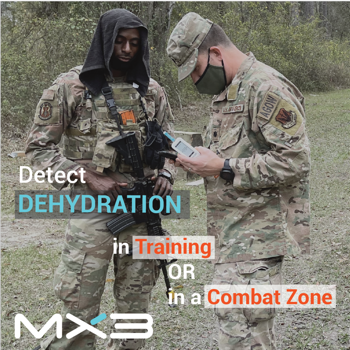 Military: Detect Dehydration in training or combat