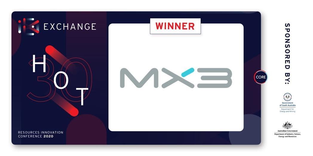 MX3 named CORE Hot 30 Innovator
